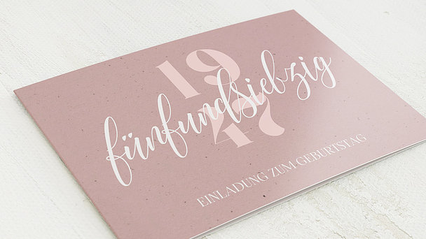 Geburtstagseinladungen - Patina 75