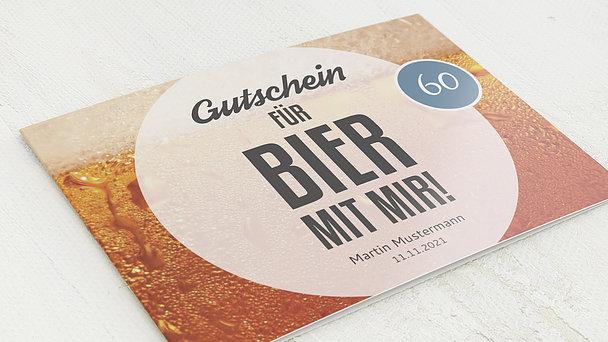 Geburtstagseinladungen - Gutschein Bier 60
