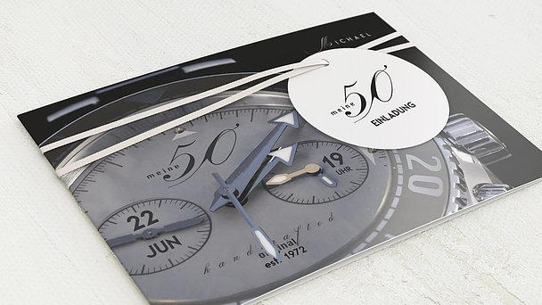 Geburtstagseinladungen - Chronometer 50
