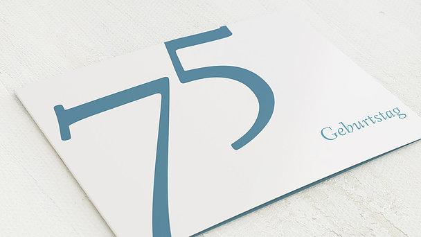 Geburtstagseinladungen - Meine Fünfundsiebzig
