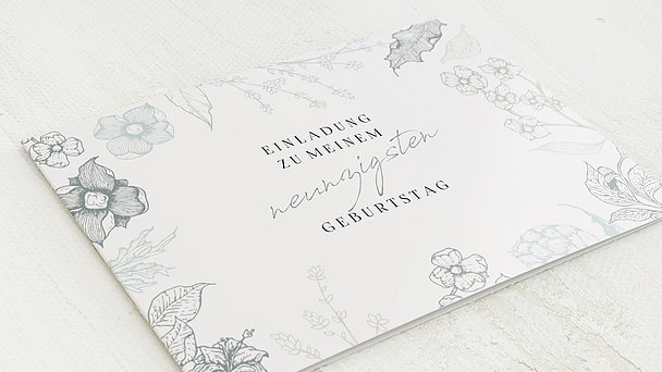 Geburtstagseinladungen - Floralis 90