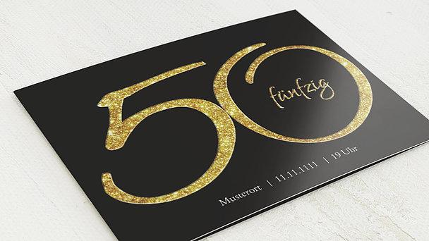 Geburtstagseinladungen - Glitzer 50