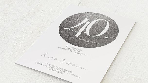 Geburtstagseinladungen - Goldpanel 40