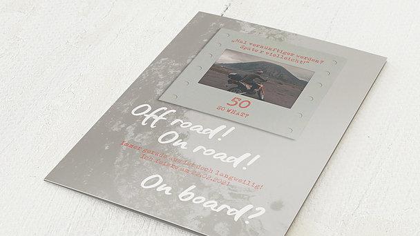 Geburtstagseinladungen - Off Road 50