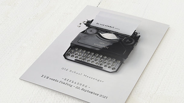 Geburtstagseinladungen - Old School Messenger 50