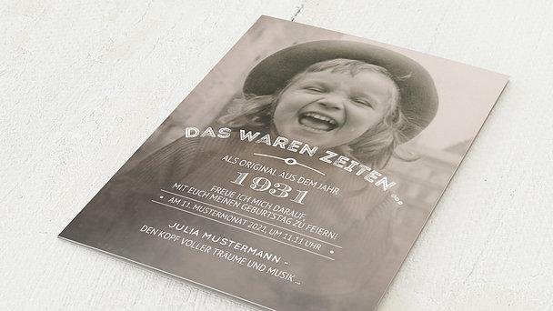 Geburtstagseinladungen - Alte Zeiten 90