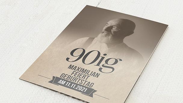 Geburtstagseinladungen - Retrofeier 90