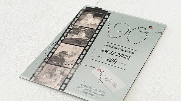 Geburtstagseinladungen - Filmstreifen 90