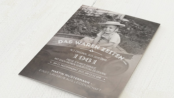 Einladungskarten 60 Geburtstag Selbst Gestalten