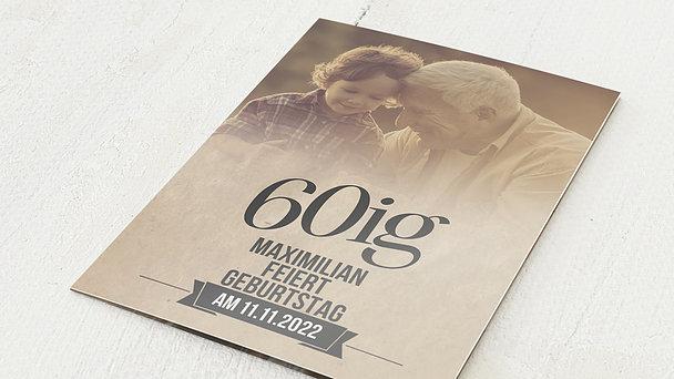 Geburtstagseinladungen - Retrofeier 60