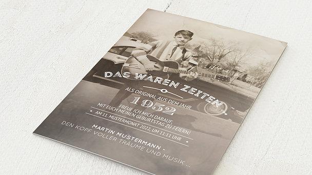 Geburtstagseinladungen - Alte Zeiten 70