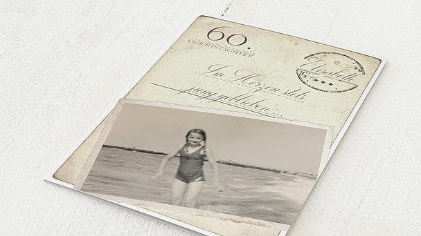 Geburtstagseinladungen - Jung geblieben 60
