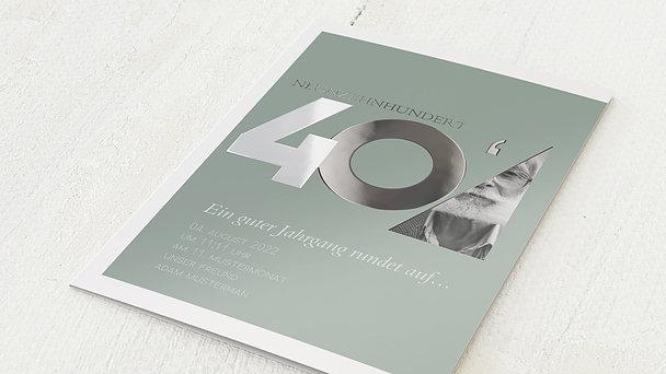 Geburtstagseinladungen - Aufgerundet 80