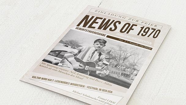 Geburtstagseinladungen - Newspaper 1970