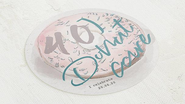Geburtstagseinladungen - Donut care 40