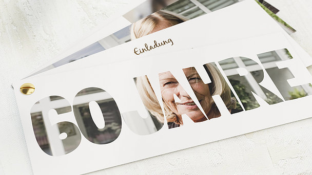 Geburtstagseinladungen - Stolze 60