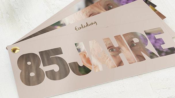 Geburtstagseinladungen - Stolze 85