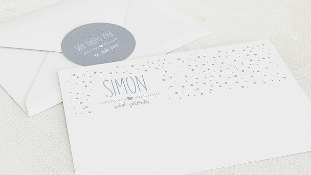 Umschlag mit Design Taufe - Mit Liebe