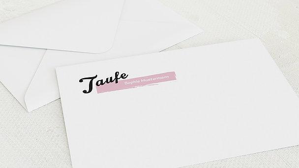 Umschlag mit Design Taufe - Babys Maße