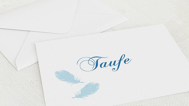 Umschlag mit Design Taufe - Feder