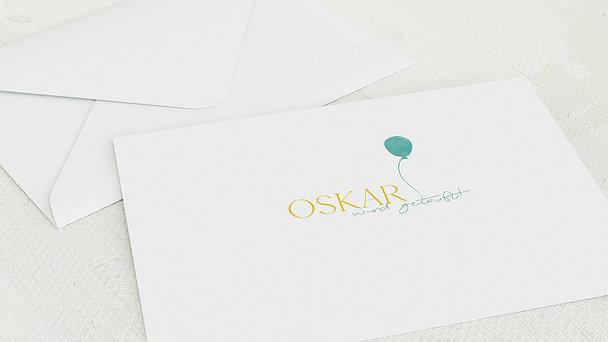 Umschlag mit Design Taufe - Aquarell-Ballon