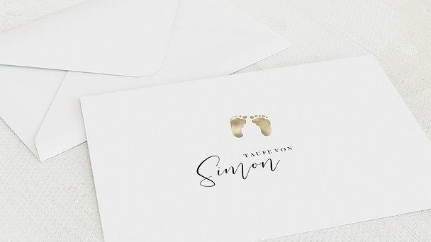 Umschlag mit Design Taufe - Füßlein
