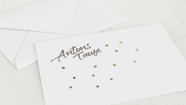 Umschlag mit Design Taufe - Goldtaler