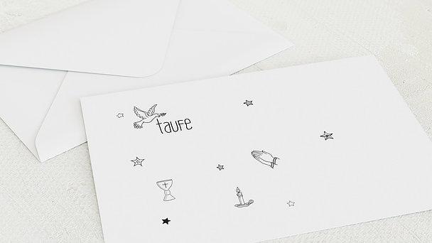 Umschlag mit Design Taufe - Flügelschlag