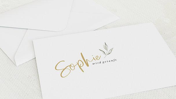 Umschlag mit Design Taufe - Ölzweig