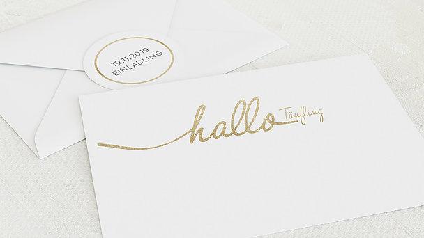 Umschlag mit Design Taufe - Hallo Baby