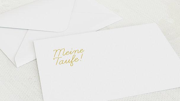 Umschlag mit Design Taufe - Einfach & Simple