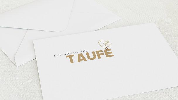 Umschlag mit Design Taufe - Birdy Baby