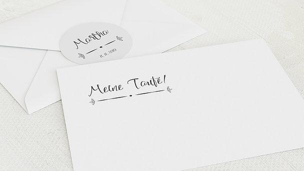 Umschlag mit Design Taufe - Größtes Glück