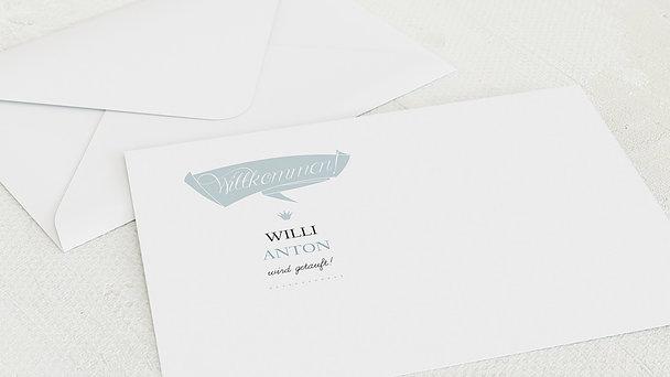 Umschlag mit Design Taufe - Ankunft