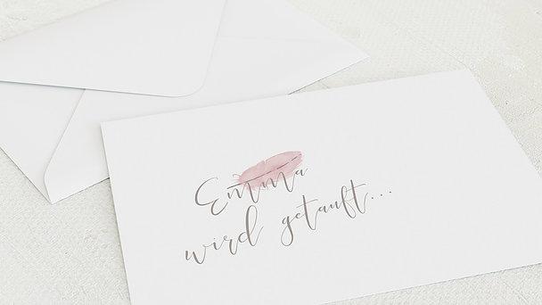 Umschlag mit Design Taufe - Federwirbel