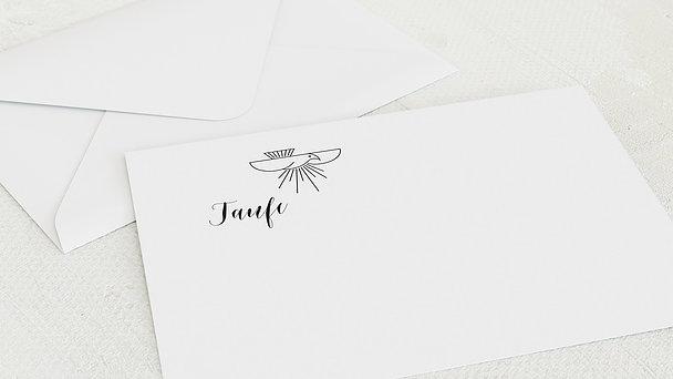 Umschlag mit Design Taufe - Schutzengel