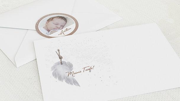 Umschlag mit Design Taufe - Zarte Flügel Baby