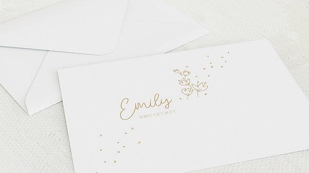 Umschlag mit Design Taufe - Kleine Sprenkel