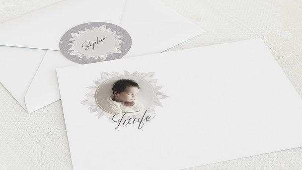 Umschlag mit Design Taufe - Blütenspiegel