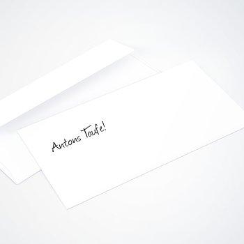 Umschlag mit Design Taufe - Getäfelt jung