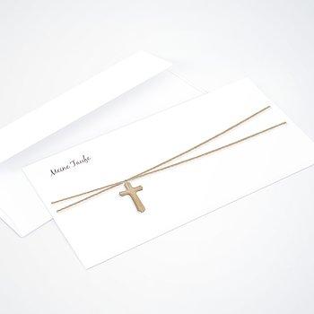 Umschlag mit Design Taufe - Holzkreuz