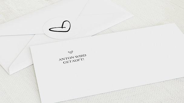 Umschlag mit Design Taufe - Kleiner Schatz
