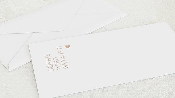 Umschlag mit Design Taufe - Reines Herz