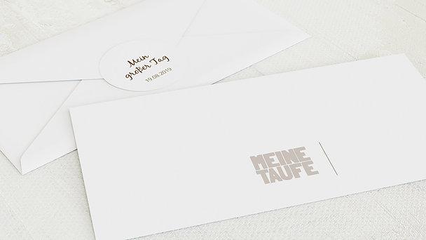 Umschlag mit Design Taufe - Taufe Fototext