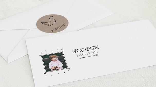 Umschlag mit Design Taufe - Edelstein