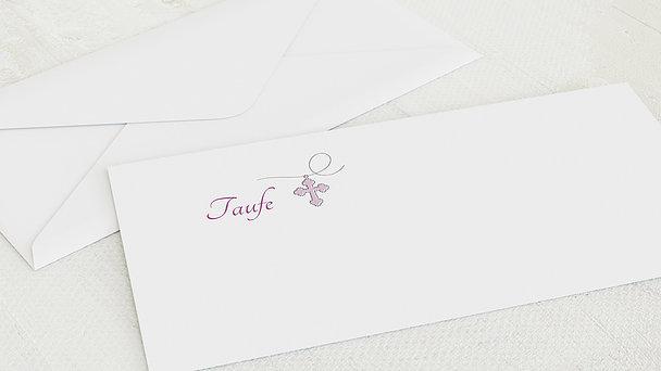 Umschlag mit Design Taufe - Herzchen