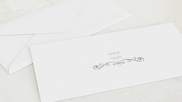 Umschlag mit Design Taufe - Babytafel
