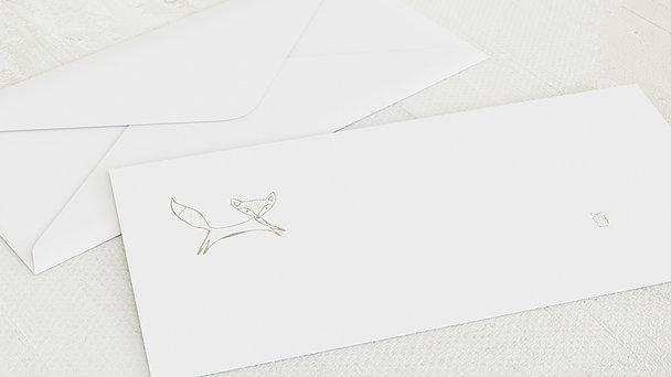 Umschlag mit Design Taufe - Füchslein