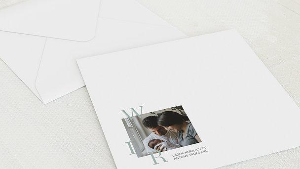 Umschlag mit Design Taufe - Wiege des Glücks