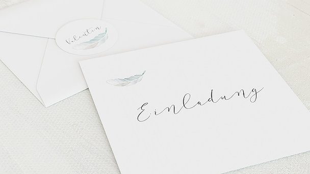 Umschlag mit Design Taufe - Bless you